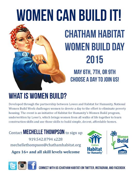 Chatham Habitat Women Build Day 2015