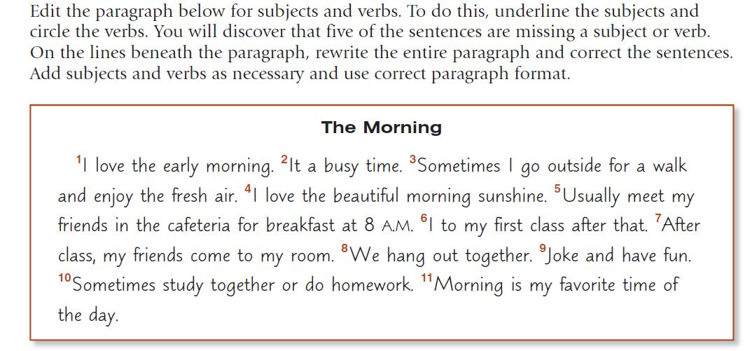 morning walk paragraph writing