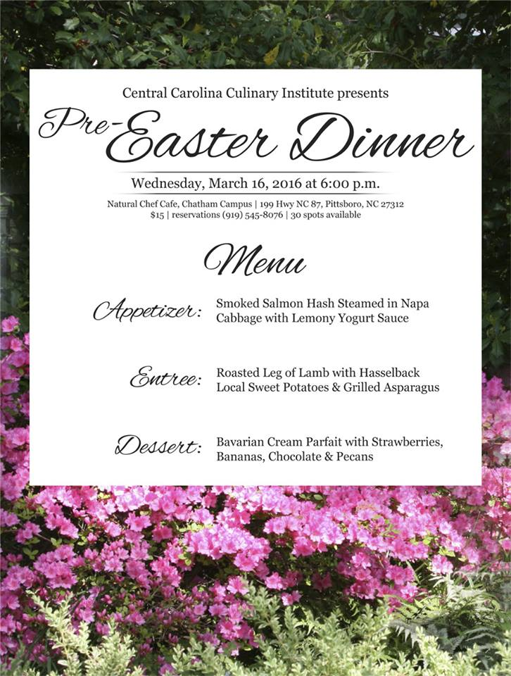 Pre-Easter Dinner at The Pittsboro MainCampus