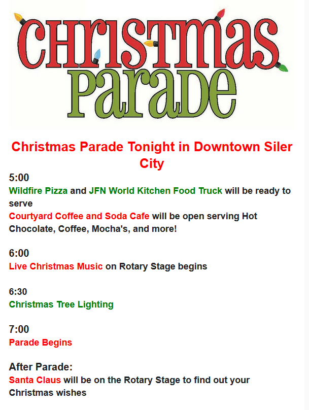 Christmas Parade Tonight in Downtown Siler City