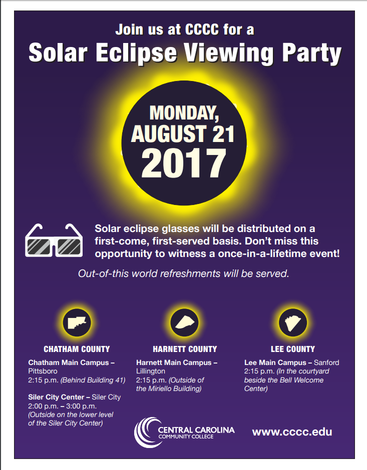 Solar Eclipse Viewing Party at The Siler City Center
