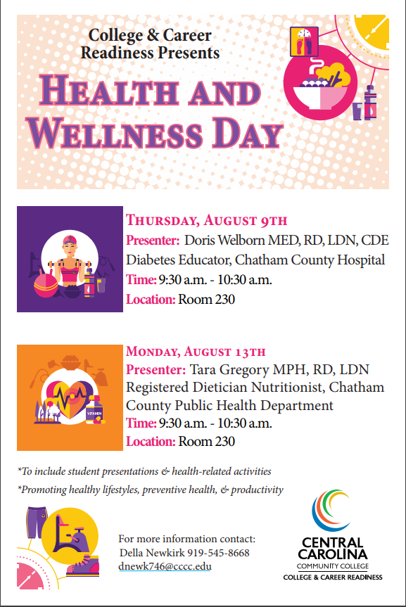 Health and Wellness Events in August at The Siler CityCenter